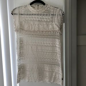 Scotch and Soda 100% cotton lace spring tank